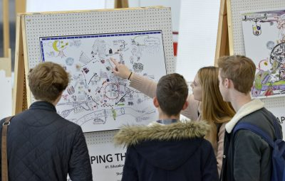 Dated: 22/10/16 A unique exhibition revealing how young people see the world was recently opened at Newcastle's City Library. Mapping The City was the brainchild of Mike Jeffries and Jon Swords from Northumbria University's Geography Department and Sebastian Messer from the Department of Architecture and Built Environment.