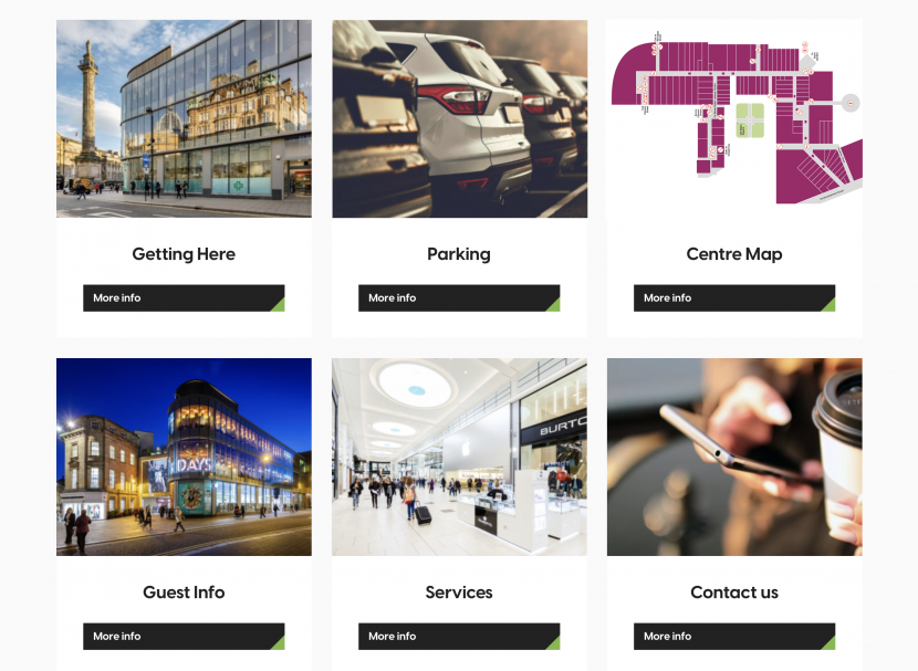 Eldon Square new website